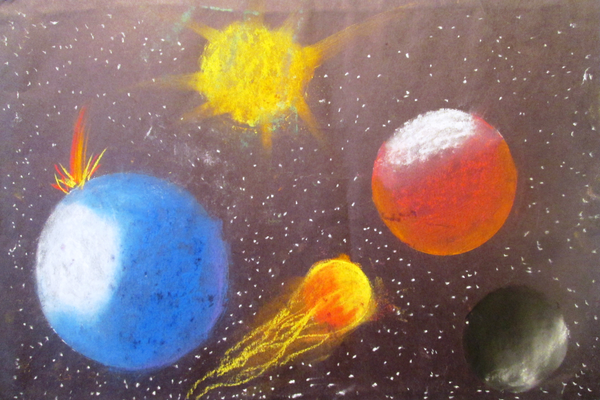 An outer-space drawing by Anthony Karpinski.