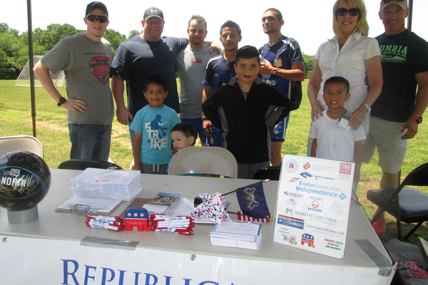 Voter registration was a big part of the weekend soccer tournament at Anson B. Nixon Park.
