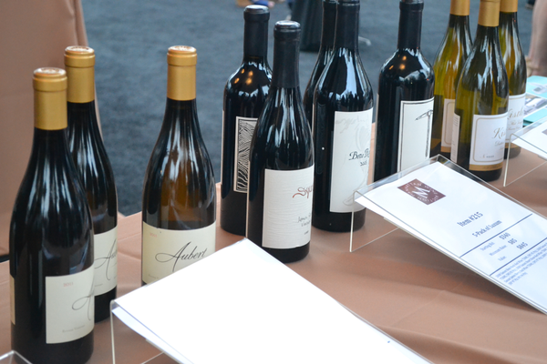 Wines on display at the silent auction. Photo credit: Jeanne Fratello for DigMB