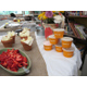 A make your own sundae bar was a hit with the teachers with frozen yogurt donated by Orange Leaf.