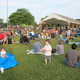 Families filled the area near the Livingston Street Pavilion to hear Johnny the K.
