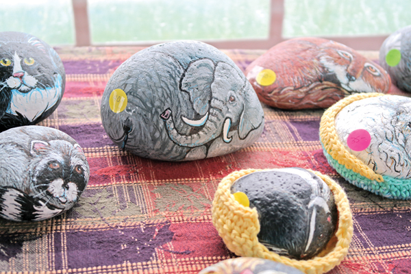 Pet rocks by Jeanne Lint.