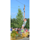 (Photo by Richard L. Gaw) This youngster enjoyed the festival's zip line.