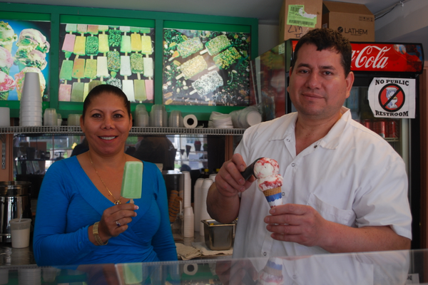 A recommended stop in Kennett Square is the LaMichoacana Ice Cream shop, where owners Noellia Scharon and Juvenal Gonzalez create ice cream and ice treat flavors influenced by their Mexican heritage.