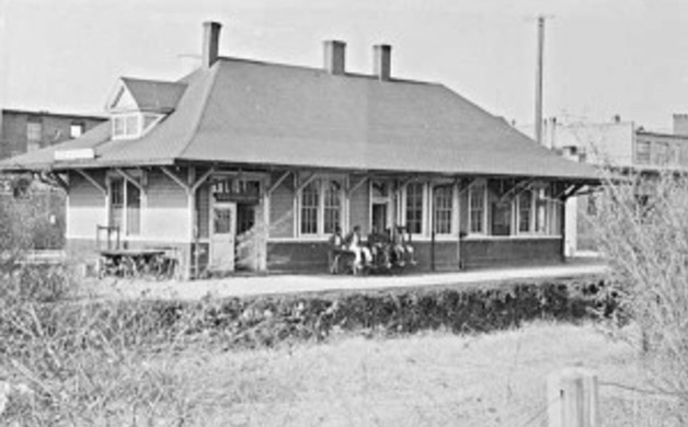 The Old Southern Railway Station in Kannapolis