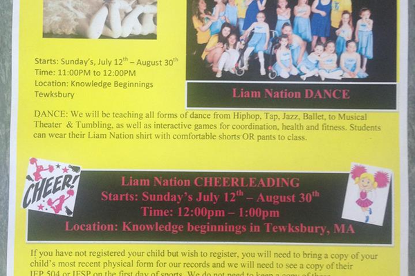Liam Nation will be offering Cheerleading this summer!