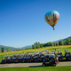 Balloonists get an aerial view of golfers at Catamount Ranch and Club  Photo by Noah Wetzel
