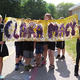 Macy 4th-graders carry a banner for the Macy Arts Week opening parade.