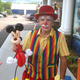 Bobo the clown entertained kids with his balloon animals