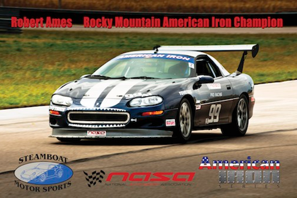 Robert Ames and his 2001 Chevrolet Z-28 Camaro - Rocky Mountain Champion of the NASA's American Iron series.