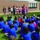 Mark DeLay 2nd graders visit Lace School.