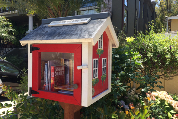 A Little Free Library in the Tree Section of Manhattan Beach