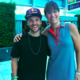 Jill with Louie Vito, Olympic Halfpipe Snowboarder
