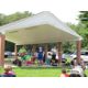 Karen K, Bumble, Hop, and Stinky play for the crowd at the Livingston Street Recreation area in Tewksbury