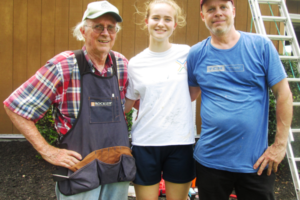 Three generations are working on the Kennett Square home: Howard Morrison, his son Scott and granddaughter Lana.