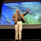 Tony Buettner on the Beaver Dam High School Auditorium stage Blue Zones presentation, June 16, 2015 Photo: Dan Baulch