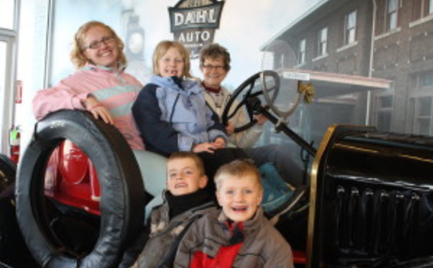 In the Jalopy at Dahl Museum LaCrosse