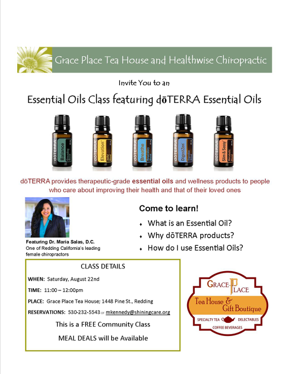 Essential Oils Class Featuring Doterra Essential Oils With Dr Maria
