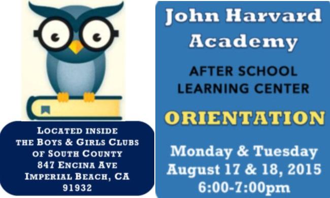 Orientation For John Harvard Academy After School Learning Center