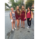 Brooke Barrett, Jodi , Emily Roane, and Paige Duquette on their first day of 8th grade at the John Wynn School