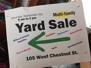 Medium yard 20sale