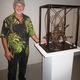 Kennett Square sculptor Stan Smokler at the opening reception for Reconstructed Elements