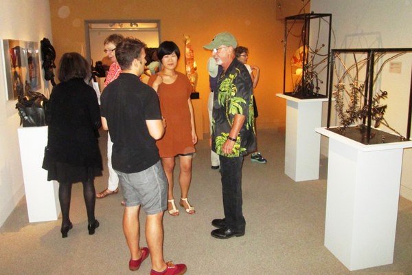 The upstairs gallery was packed with visitors on Sept. 6.