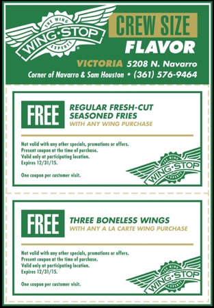 Wingstop coupon codes