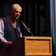 Honoree Kerry Favero spoke to the crowd in September at Ben Lomond High School's Wall of Fame Ceremony.