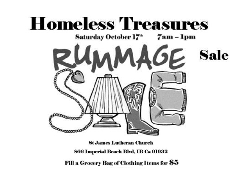 Check out the Great Deals at Saturday's Homeless Treasures Rummage