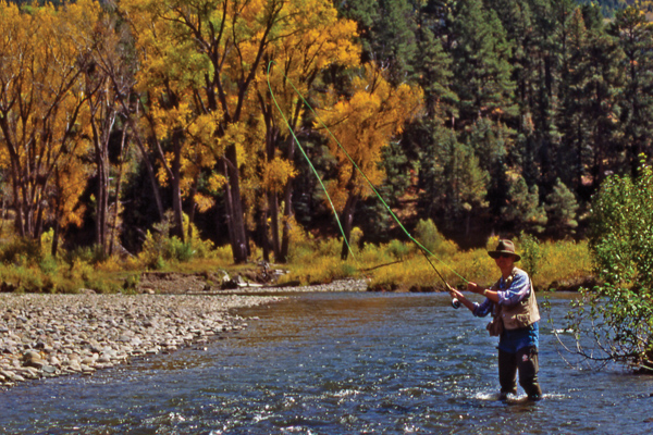 Fall fishing near Pagosa Springs, CO