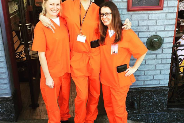 "The Rock'n Fish crew as ""Orange is the New Rock"" - Photo credit Rock'n Fish"