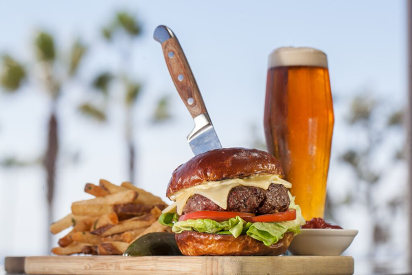 Burger and beer at The Strand House
