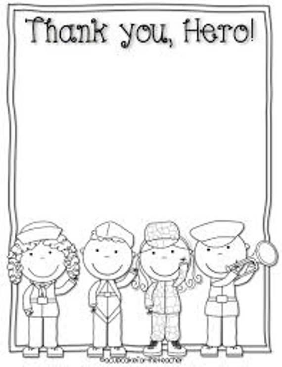 Veterans Day Thank You Coloring Page - GetColoringPages.com | 741x570