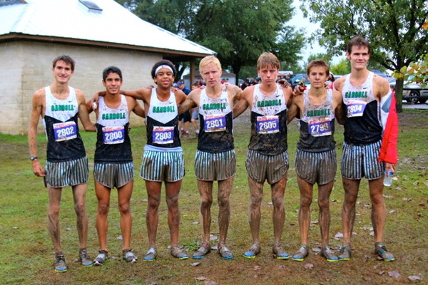 Boys team (from left): Michael Simcho, Nicolas Fernandes, Timou Toure, Charlie Gardner, Shea Whatley, Reed Brown, Michael Waugh