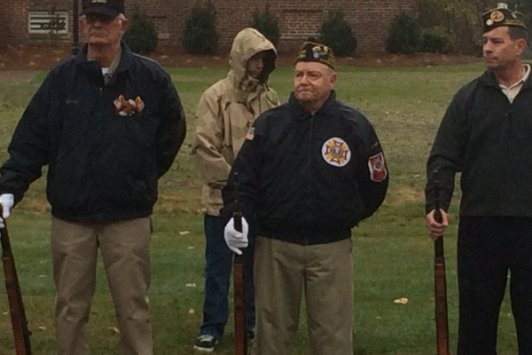 2015 Veterans Day Ceremony on the Town Common.