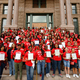 Over 400 girls from the Young Women's Leadership Academy participated in the Day of the Girl