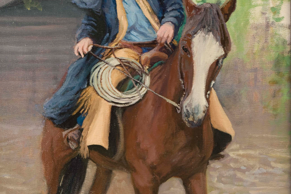 "Riding Ole Bessie; 16""x 20"""