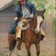 """Riding Ole Bessie; 16""""x 20"""""""