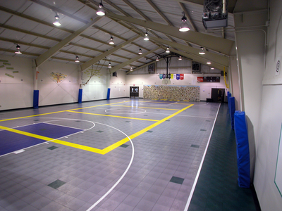 Sport court floor pharr