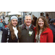 La Roche student Rita Vinski, WPXI anchor Alby Oxenreiter and La Roche graduate Paige White at the WPXI holiday parade. Photo courtesy Photo4Food