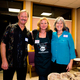 Empty Bowls Supper Coordinator Gwen Yaeger (middle) with potters Dean and Linda Bullert
