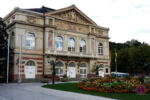 The Baden-Baden Theater, built in Belle Epoch-style