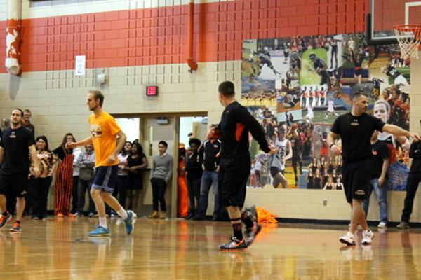 Dodgeball at Osseo Senior High Sno-Daze Pepfest 2016