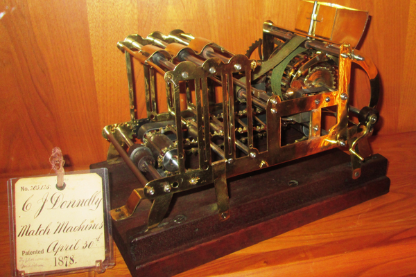A match-making machine (1878).