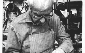 George Sheklian who passed away last December is pictured repairing a customers shoe He operated Sierra Shoe Repair at various Fresno locations since 1963