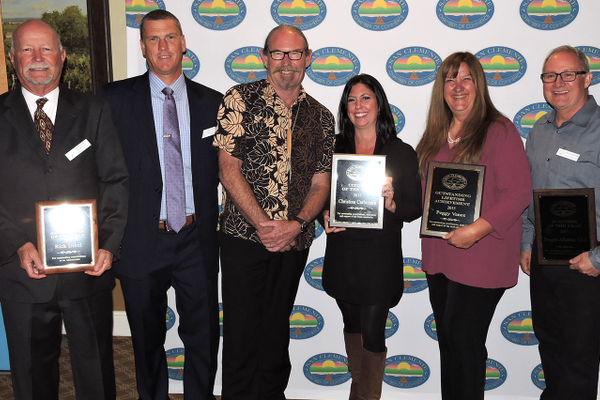 Volunteer of the Year, Jim Wynne, Teacher of the Year; Duncan Wilson, Christina Carbonara; Citizen of the Year, Peggy Vance, Lifetime Achievement. Will Howard; Busines of the Year