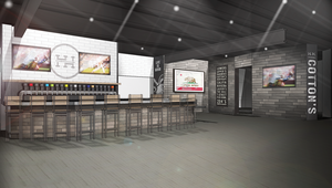 Medium rendering of bar and kitchen