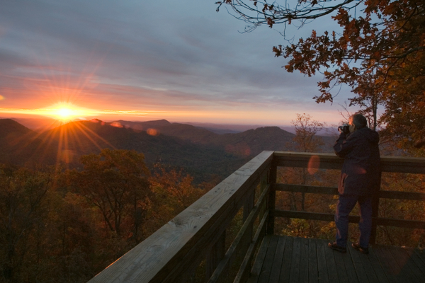 Black Rock Mountain sunrise. Photo courtesy of Georgia Department of Natural Resources.