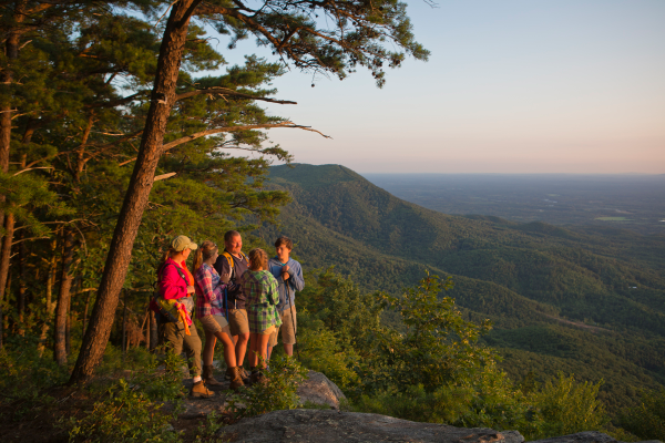 Fort Mountain hiking sunset. Photo courtesy of Georgia Department of Natural Resources.